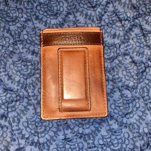 Men's Fossil Magnetic Card Case Wallet